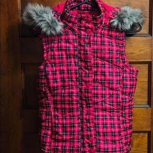 Aeropostal Hooded Vest Xs/P Pink